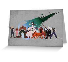 Final Fantasy VII Characters Greeting Card