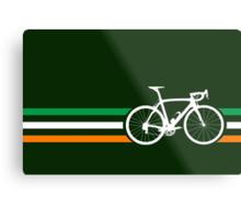 Bike Stripes Irish National Road Race v2 Metal Print