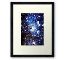 Blue Galaxy 3.0 Framed Print
