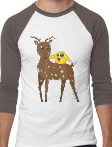 Diego the Deer and Yellow Bird Men's Baseball ¾ T-Shirt