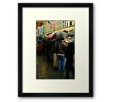 Rainy Afternoon on Broaway Framed Print