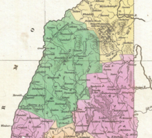 Vintage Map of New Hampshire (1827) Sticker