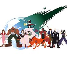 (NO BACKGROUND) Final Fantasy VII Characters by tylerboyco
