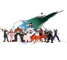 (NO BACKGROUND) Final Fantasy VII Characters Photographic Print