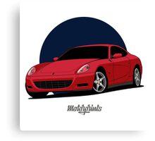Ferrari 612 Scaglietti (red) Canvas Print