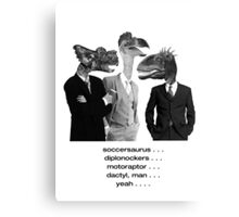 The Saurus Society - No Extinction Theory Conversation Canvas Print