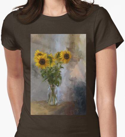 Five Sunflowers Womens Fitted T-Shirt