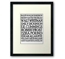 Poet Lovers Framed Print