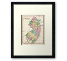 Vintage Map of New Jersey (1827) Framed Print
