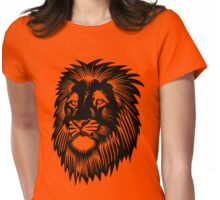 Lion Head Silhouette Womens Fitted T-Shirt