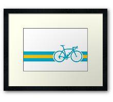Bike Stripes Kazakhstan Framed Print