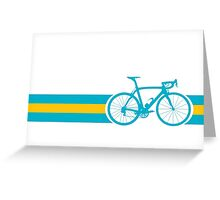 Bike Stripes Kazakhstan Greeting Card