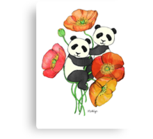 Poppies & Pandas Canvas Print