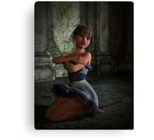 Scared Doll Canvas Print