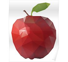 Red Apple (Low Poly Art) Poster
