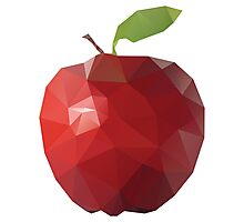 Red Apple (Low Poly Art) Photographic Print