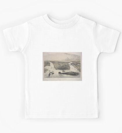 368 New York Above title names of 8 places and buildings from Jersey City to Brooklyn Kids Tee