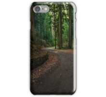 old curve road through forest iPhone Case/Skin