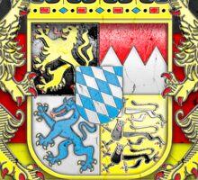 Bayern Wappen / Fahne in Stein gemeißelt Sticker