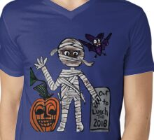 mummy out to lunch halloween Mens V-Neck T-Shirt