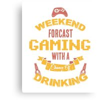 Gaming with a Chance of Drinking Canvas Print