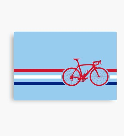 Bike Stripes British National Road Race v2 Canvas Print