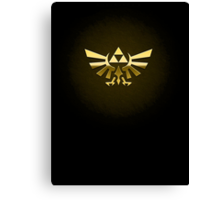 Hyrule Legend of  Zelda Link Crest triforce hylian shield Canvas Print
