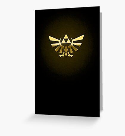 Hyrule Legend of  Zelda Link Crest triforce hylian shield Greeting Card