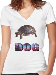 Yorkie Women's Fitted V-Neck T-Shirt