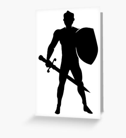 RPG Warrior Silhouette Greeting Card