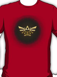 Hyrule Legend of  Zelda Link Crest triforce hylian shield T-Shirt