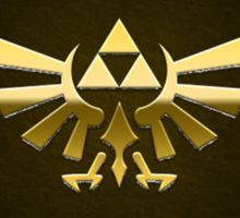 Hyrule Legend of  Zelda Link Crest triforce hylian shield Sticker