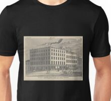 488 R L A Stuart's steam candy and sugar refinery corner of Greenwich and Chambers Street New York Lossing Opened 1806 Rebuilt 1835 Enlarged 1840 Unisex T-Shirt