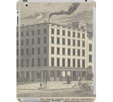 488 R L A Stuart's steam candy and sugar refinery corner of Greenwich and Chambers Street New York Lossing Opened 1806 Rebuilt 1835 Enlarged 1840 iPad Case/Skin