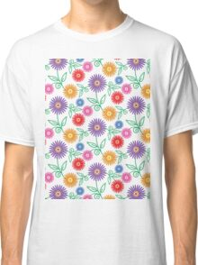 Colorful Modern Floral Pattern Classic T-Shirt