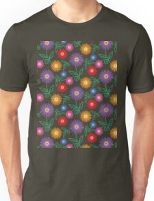 Colorful Modern Floral Pattern Unisex T-Shirt