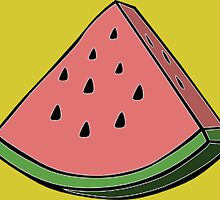 Pop Art Watermelon by luckylucy