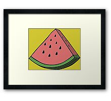 Pop Art Watermelon Framed Print