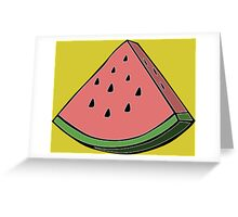 Pop Art Watermelon Greeting Card
