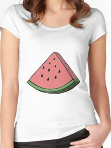 Pop Art Watermelon Women's Fitted Scoop T-Shirt
