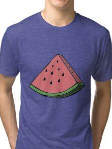 Pop Art Watermelon Tri-blend T-Shirt