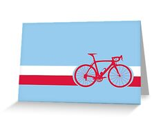 Bike Stripes Poland Greeting Card