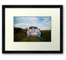 My knitted car Framed Print