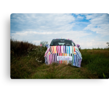 My knitted car Canvas Print