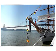 Sagres in Tagus River, Lisbon - Portugal; by Ana Canas Poster