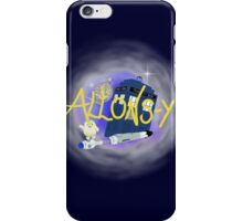 10th Doctor - Allons-y with TARDIS, sonic screwdriver and Adipose. iPhone Case/Skin