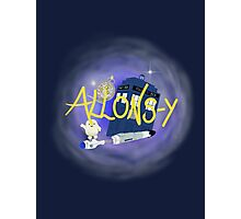 10th Doctor - Allons-y with TARDIS, sonic screwdriver and Adipose. Photographic Print
