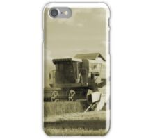 Vintage Combine Harvester  iPhone Case/Skin