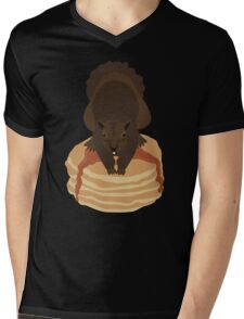 Pancake Squirrel Mens V-Neck T-Shirt