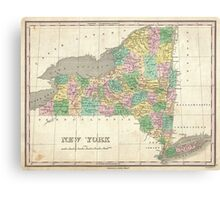 Vintage Map of New York (1827) Canvas Print